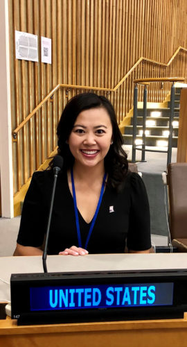 Jennifer Barber at UN